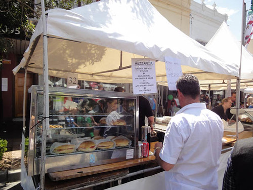 Norton Street Italian Festa: Bacon & egg rolls, sausage rolls and steak rolls from Mezzapica