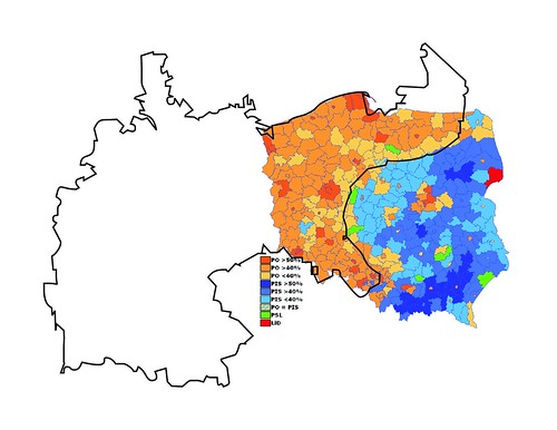 Poland 2007: Election Results with Imperial Overlay