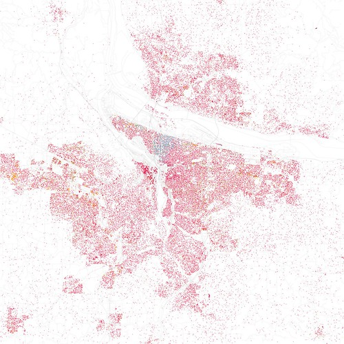 Race and ethnicity: Portland by Eric Fischer