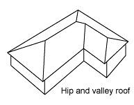 hip and valley roof