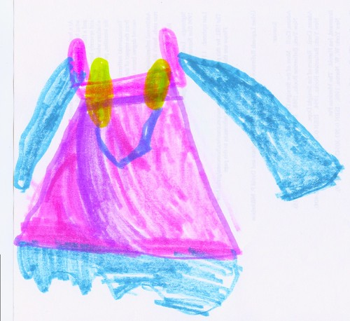 Viking Apron Dress Drawing