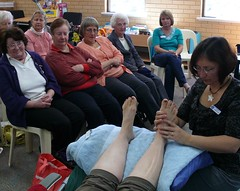 Reflexology demostration at Spearwood Library