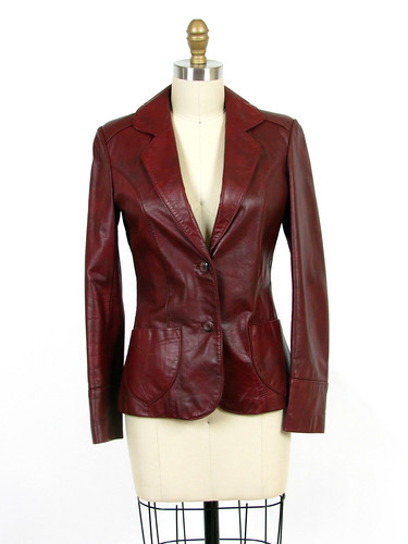 70's boho leather jacket
