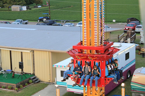 Chowan County Fair - Drop Zone Approach From Ferris Wheel