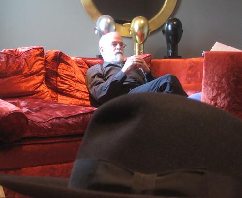 Terry Pratchett and hat