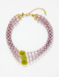 David Aubrey necklace lilac-green