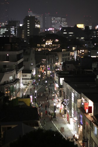 Nightime view of Harajuku