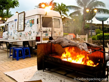 After: Les Roulettes (food trucks) in Papeete, Tahiti