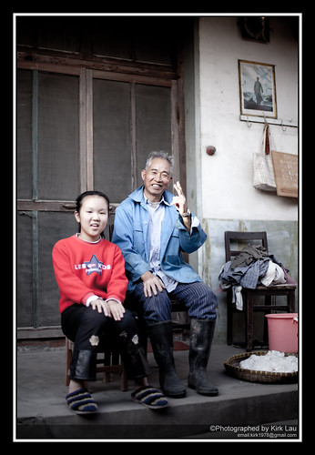 [Street] Farm at HuaningLu #5: Grandfather+granddaughter