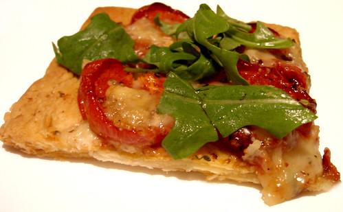 Oven-dried tomato & blue vinny tart