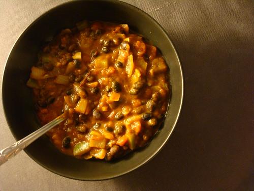 Spicy Pumpkin Black Bean Chili