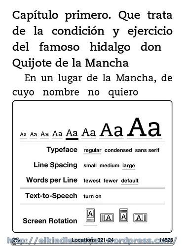 El Quijote - Tamaño de letra 5