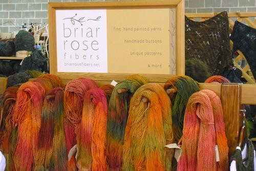 Briar Rose Fibers booth