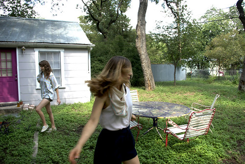 leigh and mia backyard
