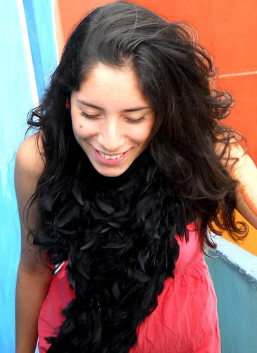 Andrea en la escalera