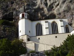 Felsenkirche, gesehen von unserem Zimmer in der Schloßschenke