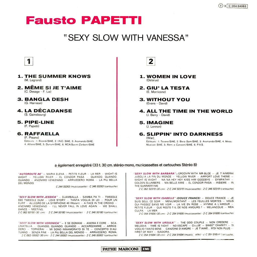 Fausto Papetti - Sexy Slow with Vanessa