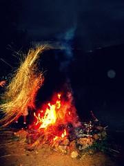 Burn, Baby Burn; the mountain's on fire