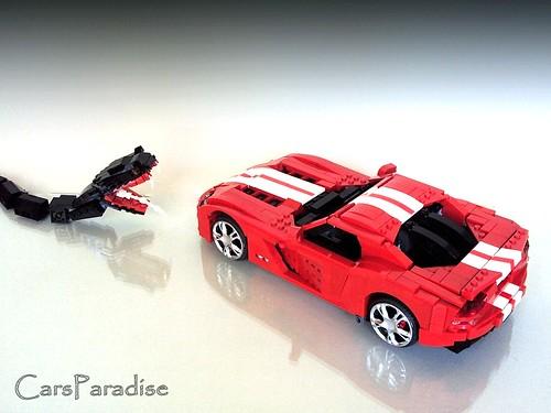 Dodge Viper SRT10 LEGO rear top