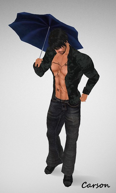 Merlin Black Long & Jeans~Illicit Designs  Porcelain Tattoo !Destiny Designs September Rain Umbrellas SEPTEMBER RAIN HUNT