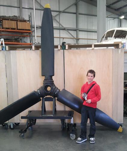 Alex besides a propeller!