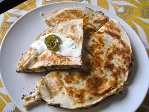 Chicken & Mushroom Quesadilla