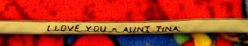 I love you from Aunt Tina label