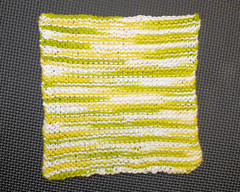 garter stitch dishcloth