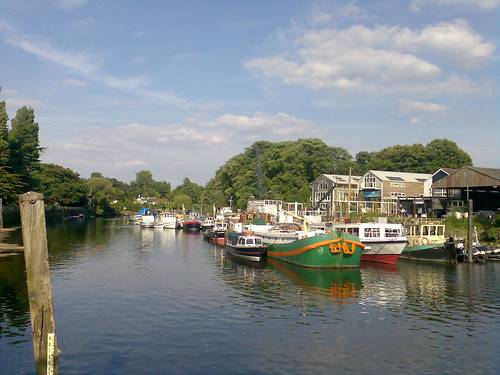 Boats at Eel Pie Island