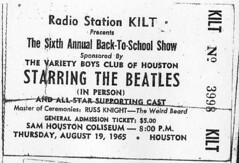 Beatles Concert Ticket
