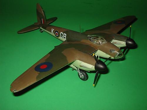 Completed Monogram 1/48 de Havilland Mosquito, starboard fore quarter