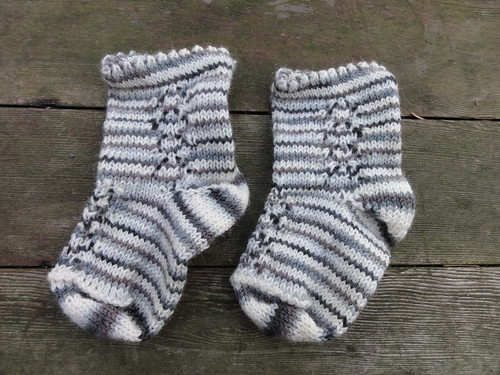 Chevron Lace Baby Socks