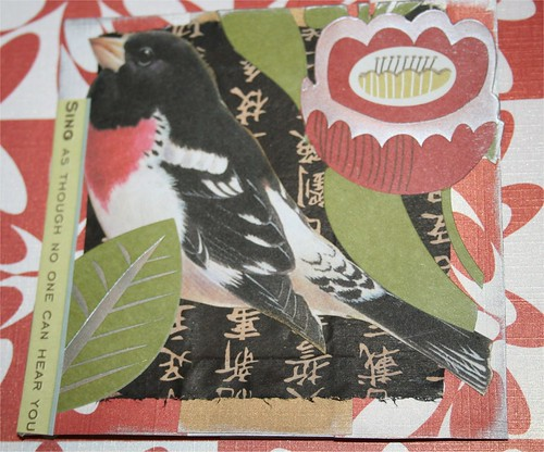 """No one can hear you 4"""" x 4 """" collage card"""