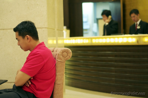 At the Cosmo Hotel lobby, Wan Chai, HK 2010