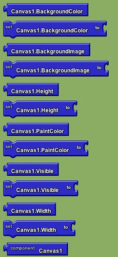 Google app inventor - canvas blocks 2