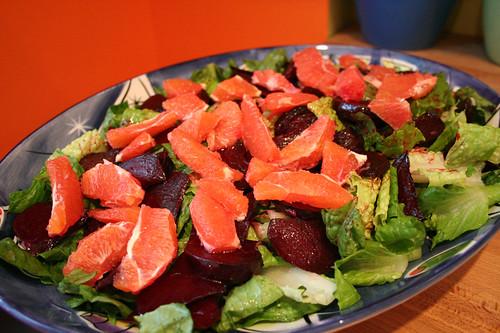 Beet, Orange and Walnut Salad