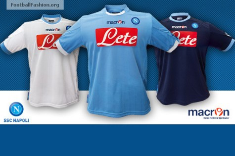 S.S.C. Napoli Macron 2010/11 Home, Away and Third Kits / Jerseys /Maglie