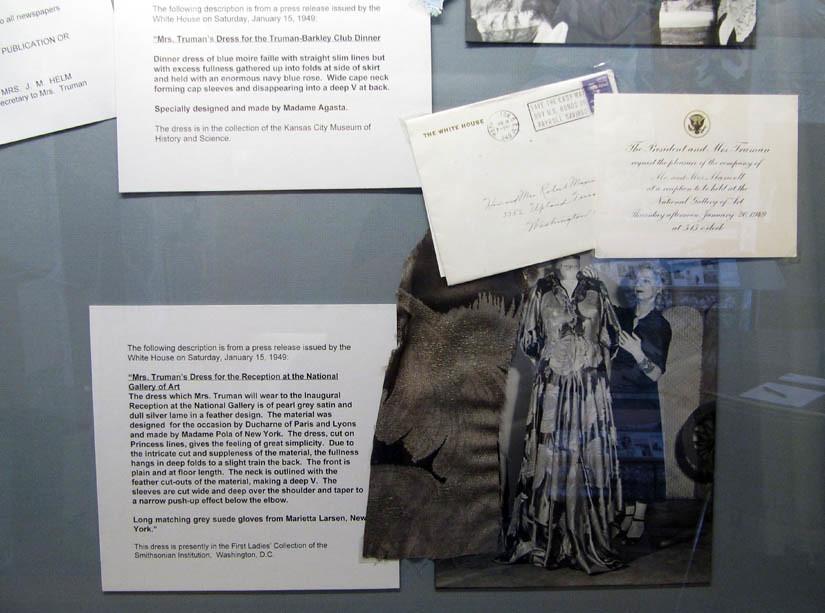 Bess Truman Inaugural Dress Display