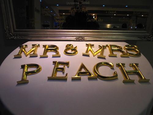 Mr & Mrs Peach