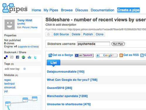 SLideashare - recent downloads pipe