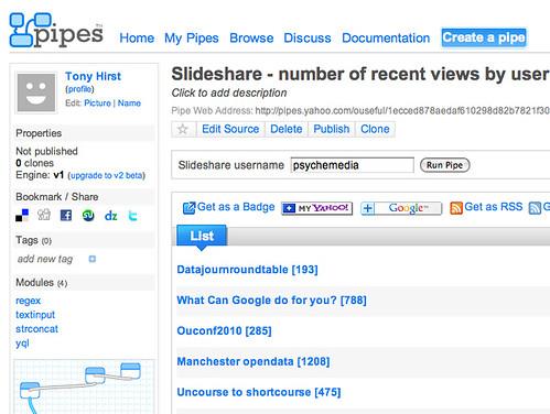 SLideashare - recent downloads pipe