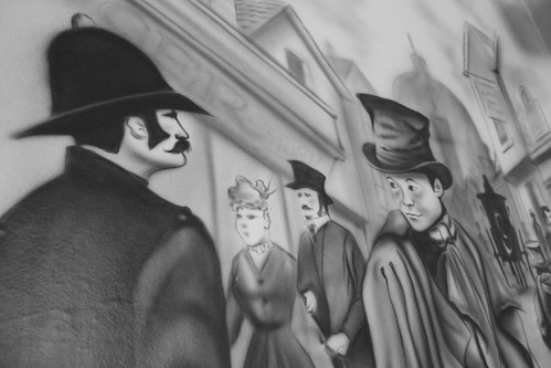Street art inside the Artful Dodger
