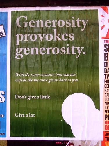 flyposter Manchester : Generosity Provokes Generosity