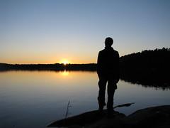 Solnedgång vid Stora Rängen