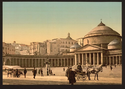 [Plaza and church of San Francesco di Paola, Naples, Italy] (LOC)