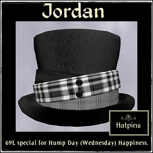 Hatpins - Jordan Top Hat - 69L