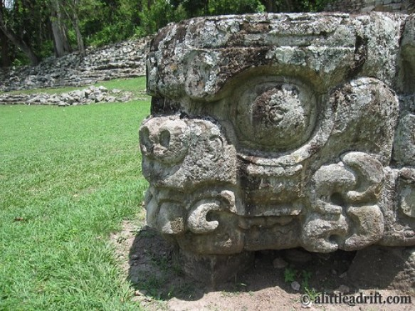 Copan Ruins Mayan Carvings in Honduras