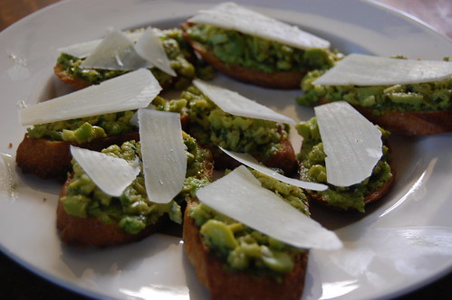 Fava Bean Crostini with Garlic Scape Pesto | Kitchen Life