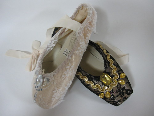 more decorated Pointe shoes