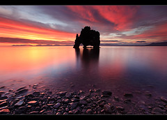 Dynosaur Rock - Hvítserkur, Iceland by orvaratli